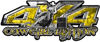 4x4 Cowgirl Edition Pickup Farm Truck Quad or SUV Sticker Set / Decal Kit in Yellow Camouflage