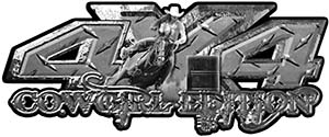 4x4 Cowgirl Edition Pickup Farm Truck Quad or SUV Sticker Set / Decal Kit in Diamond Plate
