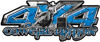 4x4 Cowgirl Edition Pickup Farm Truck Quad or SUV Sticker Set / Decal Kit in Blue Diamond Plate
