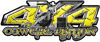 4x4 Cowgirl Edition Pickup Farm Truck Quad or SUV Sticker Set / Decal Kit in Yellow Diamond Plate