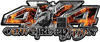4x4 Cowgirl Edition Pickup Farm Truck Quad or SUV Sticker Set / Decal Kit in Inferno Flames
