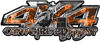 4x4 Cowgirl Edition Pickup Farm Truck Quad or SUV Sticker Set / Decal Kit in Orange Inferno Flames
