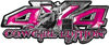 4x4 Cowgirl Edition Pickup Farm Truck Quad or SUV Sticker Set / Decal Kit in Pink