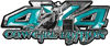 4x4 Cowgirl Edition Pickup Farm Truck Quad or SUV Sticker Set / Decal Kit in Teal