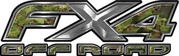 Ford F-150 4x4 Truck FX4 Off Road Style Decal Kit in Camouflage