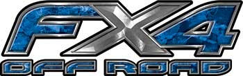 Ford F-150 4x4 Truck FX4 Off Road Style Decal Kit in Blue Camouflage