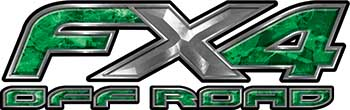 Ford F-150 4x4 Truck FX4 Off Road Style Decal Kit in Green Camouflage