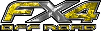 Ford F-150 4x4 Truck FX4 Off Road Style Decal Kit in Yellow Camouflage