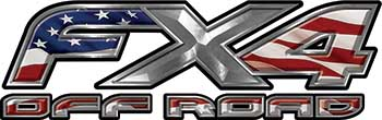 Ford F-150 4x4 Truck FX4 Off Road Style Decal Kit with American Flag