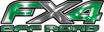 Ford F-150 4x4 Truck FX4 Off Road Style Decal Kit in Green