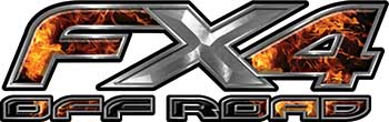 Ford F-150 4x4 Truck FX4 Off Road Style Decal Kit in Inferno Flames