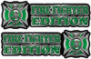 Maltese Cross Fire Fighter Edition Decals in Green