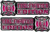 Maltese Cross Fire Fighter Edition Decals in Pink
