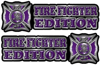 Maltese Cross Fire Fighter Edition Decals in Purple