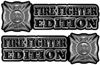 Maltese Cross Fire Fighter Edition Decals in Black