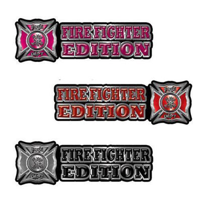 Firefighter Edition Decals for Truck or Response Vehicle