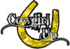 Cowgirl Up Decal / Sticker Western Style Writing with Horseshoe in Yellow Camouflage