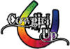 Cowgirl Up Decal / Sticker Western Style Writing with Horseshoe in Rainbow Colors