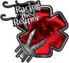 Racing the Reaper Fire Rescue EMS Decal with Extrication Tools in Red