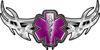 Tribal Wings with Star of Life In Purple