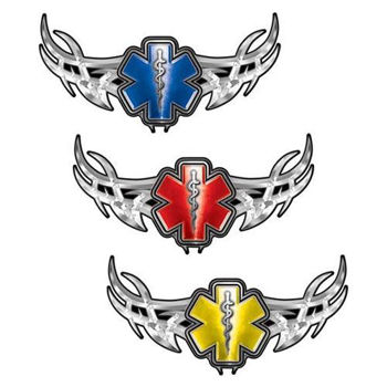 Tribal Wings with Star of Life Decal