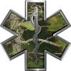 Star of Life Emergency EMS EMT Paramedic Decal in Camo