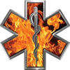 Star of Life Emergency EMS EMT Paramedic Decal in Inferno