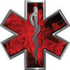 Star of Life Emergency EMS EMT Paramedic Decal in Inferno Red