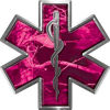 Star of Life Emergency EMS EMT Paramedic Decal in Pink Camouflage