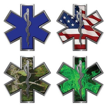 Star of Life Decal for EMT, EMS, MFR, Paramedic or Medic