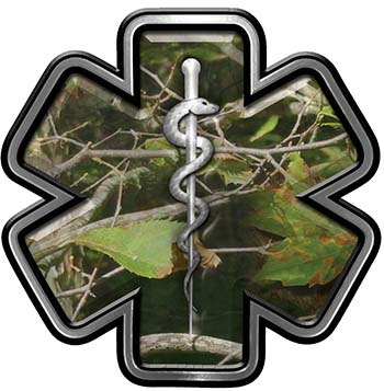 Star of Life Emergency Response EMS EMT Paramedic Decal in Camouflage
