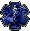 Star of Life Emergency Response EMS EMT Paramedic Decal in Blue Camouflage