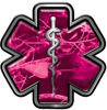 Star of Life Emergency Response EMS EMT Paramedic Decal in Pink Camouflage