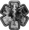 Star of Life Emergency Response EMS EMT Paramedic Decal in Gray Inferno