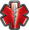 Star of Life Emergency Response EMS EMT Paramedic Decal in Red