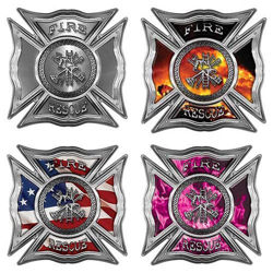 Celtic Maltese Cross Firefighter Decals