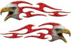 Screaming Eagle Head Tribal Flame Graphic Kit in Red Diamond Plate