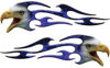 Screaming Eagle Head Tribal Flame Graphic Kit with Blue Inferno Flames