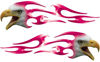 Screaming Eagle Head Tribal Flame Graphic Kit in Pink