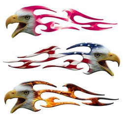 Screaming Eagle Flame Decals