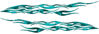 Car or Truck Flame Decal Kit in Teal Camouflage