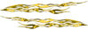 Car or Truck Flame Decal Kit in Yellow Camouflage