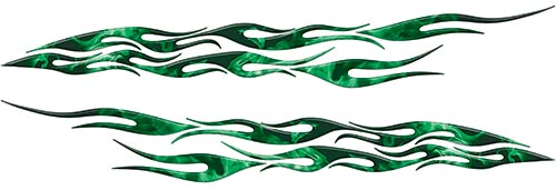 Car or Truck Flame Decal Kit in Inferno Green