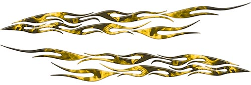 Car or Truck Flame Decal Kit in Inferno Yellow