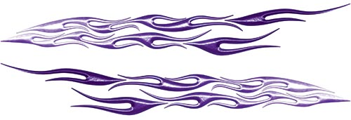 Car or Truck Flame Decal Kit in Purple