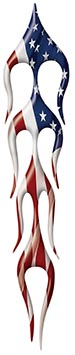 Classic Motorcycle Fender Flame Graphic with American Flag