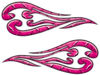 Custom Motorcycle Tank Flames or Vehicle Flame Decal Kit in Diamond Plate Pink