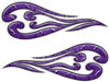 Custom Motorcycle Tank Flames or Vehicle Flame Decal Kit in Diamond Plate Purple