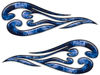 Custom Motorcycle Tank Flames or Vehicle Flame Decal Kit in Inferno Blue