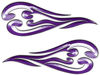 Custom Motorcycle Tank Flames or Vehicle Flame Decal Kit in Purple